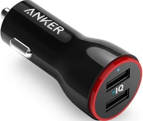 Anker 24W Dual USB Car Charger Adapter