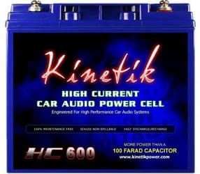 Kinetik HC600 BLU Series Car Battery