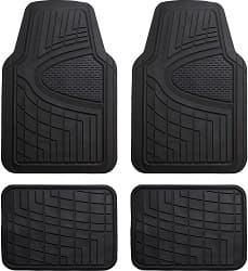 FH Group Black F11311BLACK Rubber Floor Mat