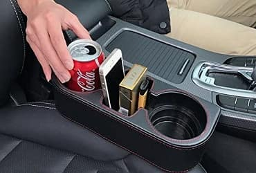 Iokone seat organizer and cup holder
