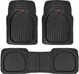 Motor Trend MT-923-BK Black Rubber Floor Mats