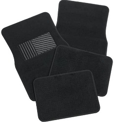 Rubber Queen Carpeted 4 Piece Mat